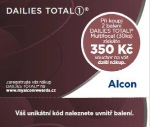 350 Kč voucher k akci Dailies Total1 cashback