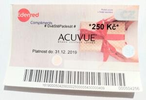 250 Kč poukázka Edenred Compliments k Acuvue