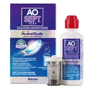 Roztok Aosept Plus HydraGlyde 90ml s pouzdrem