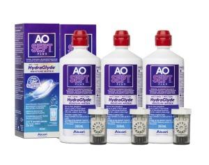 Roztok Aosept Plus HydraGlyde 3 x 360ml s pouzdry