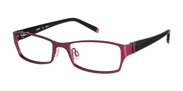 Dioptrické brýle Esprit model 17357, barva obruby vínová mat, stranice černá mat, kód barevné varianty 546.