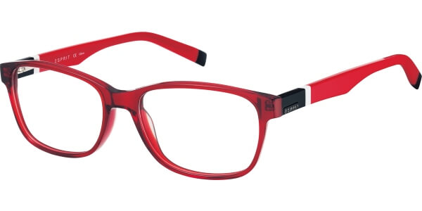 Dioptrické brýle Esprit model 17413, barva obruby červená lesk, stranice červená černá lesk, kód barevné varianty 531.