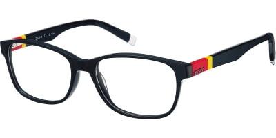 Dioptrické brýle Esprit model 17413, barva obruby černá lesk, stranice černá červená žlutá lesk, kód barevné varianty 538.