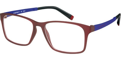 Dioptrické brýle Esprit model 17421, barva obruby červená mat, stranice modrá mat, kód barevné varianty 517.