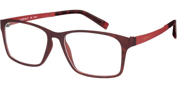 Dioptrické brýle Esprit model 17421, barva obruby hnědá mat, stranice červená mat, kód barevné varianty 545.