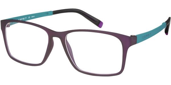 Dioptrické brýle Esprit model 17421, barva obruby vínová mat, stranice tyrkysová mat, kód barevné varianty 577.