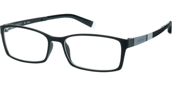 Dioptrické brýle Esprit model 17422, barva obruby černá mat, stranice černá šedá mat, kód barevné varianty 507.