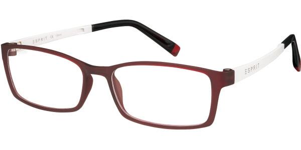 Dioptrické brýle Esprit model 17422, barva obruby červená mat, stranice bílá mat, kód barevné varianty 517.