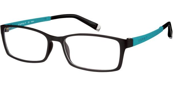 Dioptrické brýle Esprit model 17422, barva obruby hnědá mat, stranice tyrkysová mat, kód barevné varianty 538.