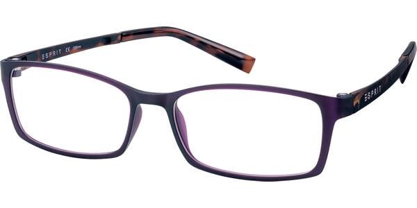 Dioptrické brýle Esprit model 17422, barva obruby Fialová mat, stranice hnědá mat, kód barevné varianty 577.