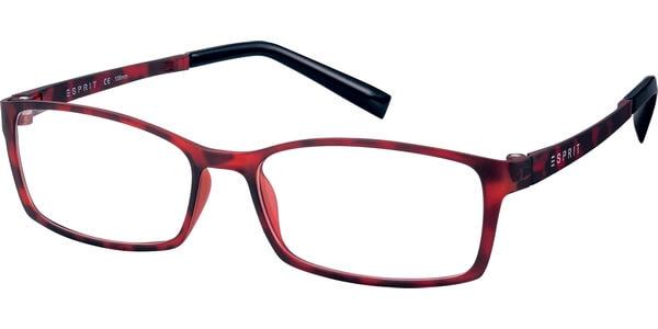 Dioptrické brýle Esprit model 17422, barva obruby červená mat, stranice červená mat, kód barevné varianty 585.