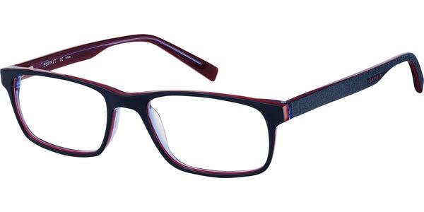 Dioptrické brýle Esprit model 17423, barva obruby modrá lesk, stranice modrá mat, kód barevné varianty 507.