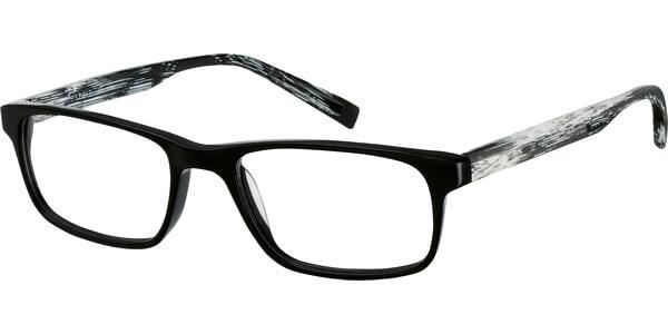 Dioptrické brýle Esprit model 17423, barva obruby černá lesk, stranice černá bíla mat, kód barevné varianty 538.