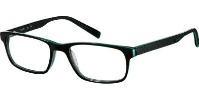 Dioptrické brýle Esprit model 17423, barva obruby černá lesk, stranice černá mat, kód barevné varianty 547.