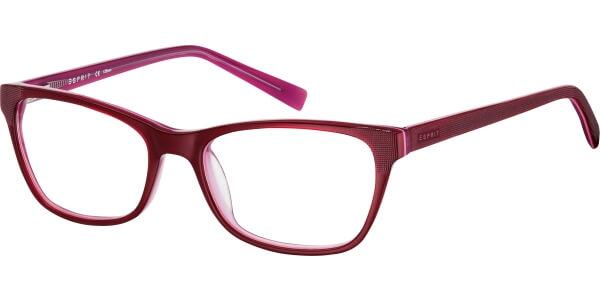 Dioptrické brýle Esprit model 17425, barva obruby vínová lesk, stranice vínová mat, kód barevné varianty 534.