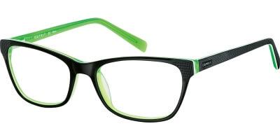 Dioptrické brýle Esprit model 17425, barva obruby černá mat, stranice černá mat, kód barevné varianty 547.