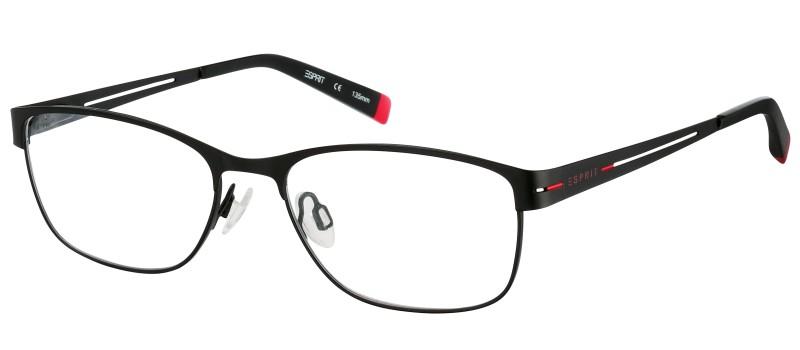 Dioptrické brýle Esprit model 17429, barva obruby černá mat, stranice černá červená mat, kód barevné varianty 538.