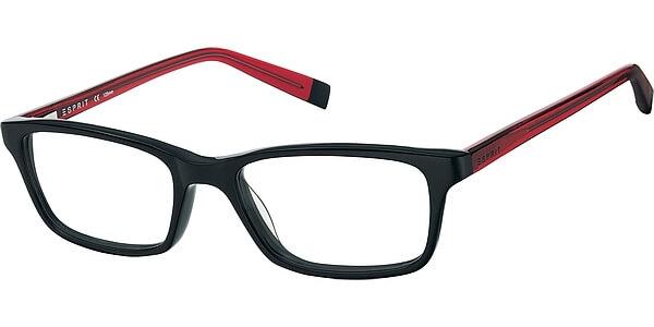 Dioptrické brýle Esprit model 17442, barva obruby černá lesk, stranice červená lesk, kód barevné varianty 538.