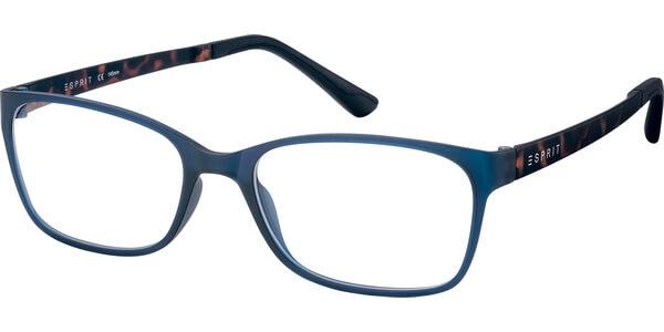 Dioptrické brýle Esprit model 17444, barva obruby modrá mat, stranice hnědá mat, kód barevné varianty 508.