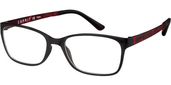 Dioptrické brýle Esprit model 17444, barva obruby černá mat, stranice červená mat, kód barevné varianty 538.