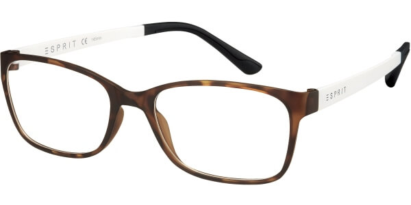 Dioptrické brýle Esprit model 17444, barva obruby hnědá mat, stranice bílá mat, kód barevné varianty 545.