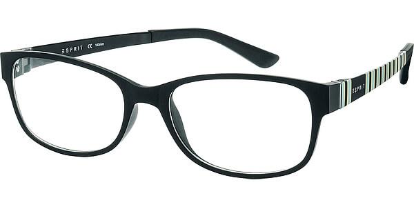 Dioptrické brýle Esprit model 17445, barva obruby černá mat, stranice černá modrá mat, kód barevné varianty 507.