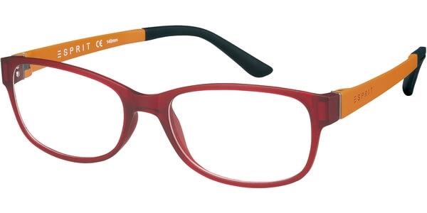 Dioptrické brýle Esprit model 17445, barva obruby červená mat, stranice oranžová mat, kód barevné varianty 531.