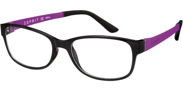 Dioptrické brýle Esprit model 17445, barva obruby černá lesk, stranice fialová mat, kód barevné varianty 538.