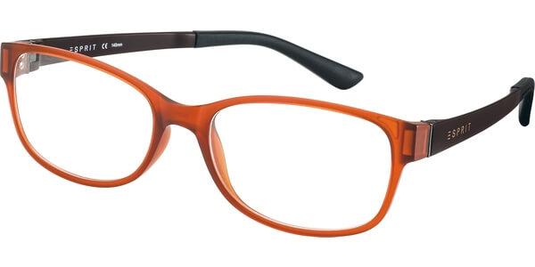Dioptrické brýle Esprit model 17445, barva obruby oranžová mat, stranice hnědá mat, kód barevné varianty 555.