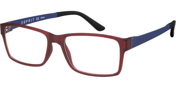 Dioptrické brýle Esprit model 17446, barva obruby vínová mat, stranice modrá mat, kód barevné varianty 517.