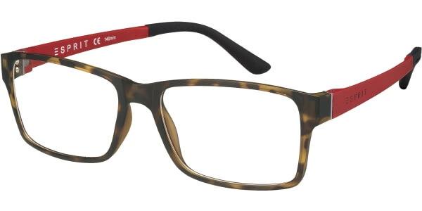 Dioptrické brýle Esprit model 17446, barva obruby hnědá mat, stranice červená mat, kód barevné varianty 527.