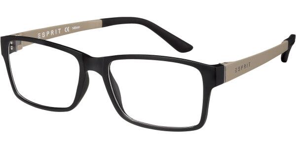 Dioptrické brýle Esprit model 17446, barva obruby černá mat, stranice šedá mat, kód barevné varianty 538.