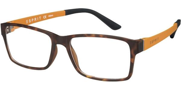 Dioptrické brýle Esprit model 17446, barva obruby hnědá mat, stranice oranžová mat, kód barevné varianty 545.