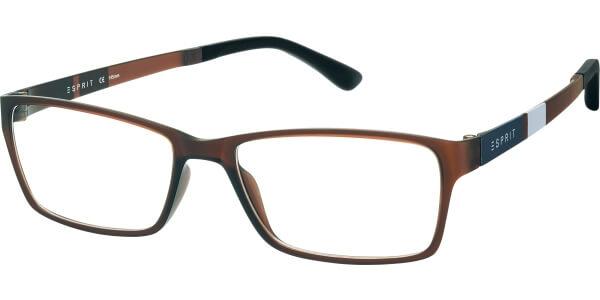 Dioptrické brýle Esprit model 17447, barva obruby hnědá mat, stranice hnědá šedá mat, kód barevné varianty 528.