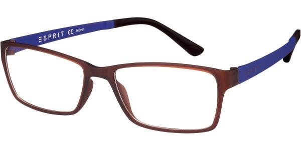 Dioptrické brýle Esprit model 17447, barva obruby hnědá mat, stranice fialová mat, kód barevné varianty 535.