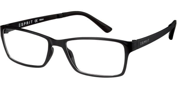Dioptrické brýle Esprit model 17447, barva obruby černá lesk, stranice černá mat, kód barevné varianty 538.