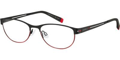 Dioptrické brýle Esprit model 17448, barva obruby černá červená mat, stranice černá mat, kód barevné varianty 538.
