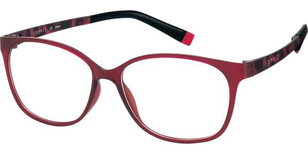Dioptrické brýle Esprit model 17455, barva obruby červená mat, stranice červená mat, kód barevné varianty 531.
