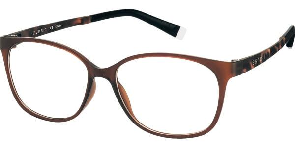 Dioptrické brýle Esprit model 17455, barva obruby hnědá mat, stranice hnědá mat, kód barevné varianty 535.