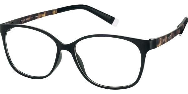 Dioptrické brýle Esprit model 17455, barva obruby černá mat, stranice hnědá mat, kód barevné varianty 538.