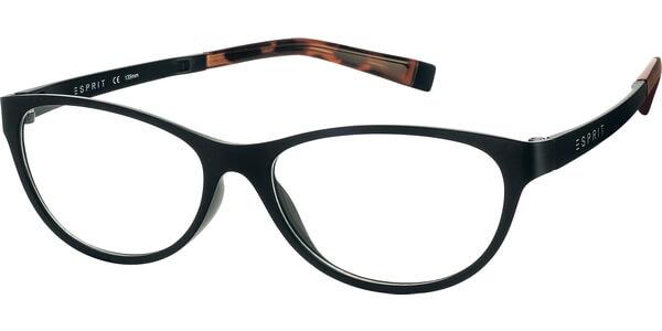 Dioptrické brýle Esprit model 17456, barva obruby černá mat, stranice černá mat, kód barevné varianty 538.