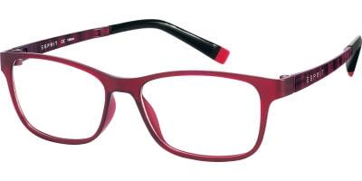 Dioptrické brýle Esprit model 17457, barva obruby červená mat, stranice červená mat, kód barevné varianty 531.