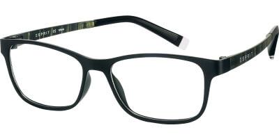 Dioptrické brýle Esprit model 17457, barva obruby černá mat, stranice černá mat, kód barevné varianty 538.