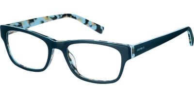 Dioptrické brýle Esprit model 17458, barva obruby modrá lesk, stranice modrá lesk, kód barevné varianty 543.