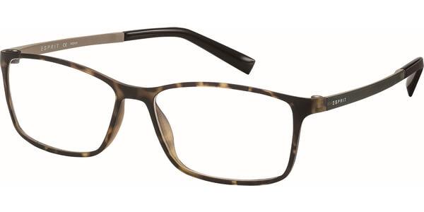 Dioptrické brýle Esprit model 17464, barva obruby hnědá mat, stranice zelená mat, kód barevné varianty 503.