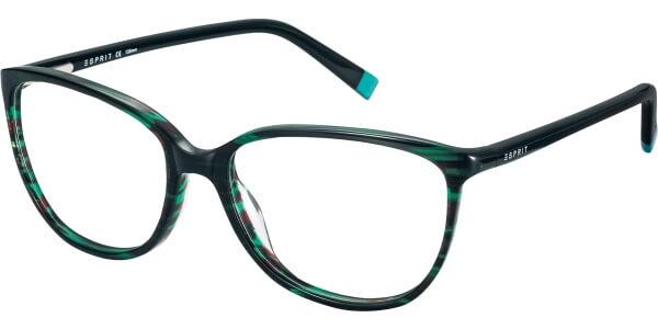 Dioptrické brýle Esprit model 17470, barva obruby černá zelená lesk, stranice černá lesk, kód barevné varianty 563.