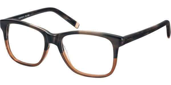 Dioptrické brýle Esprit model 17471, barva obruby černá hnědá lesk, stranice černá lesk, kód barevné varianty 535.