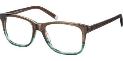 Dioptrické brýle Esprit model 17471, barva obruby hnědá zelená lesk, stranice hnědá lesk, kód barevné varianty 563.