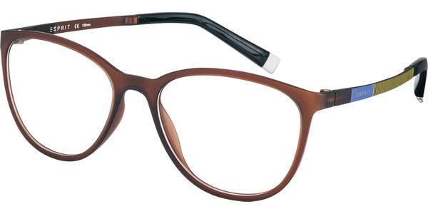 Dioptrické brýle Esprit model 17476, barva obruby hnědá mat, stranice fialová žlutá mat, kód barevné varianty 535.