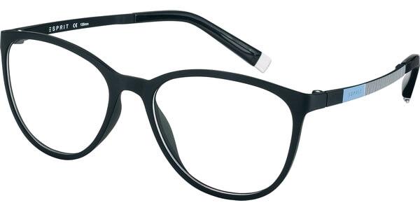 Dioptrické brýle Esprit model 17476, barva obruby černá mat, stranice černá modrá bílá mat, kód barevné varianty 538.